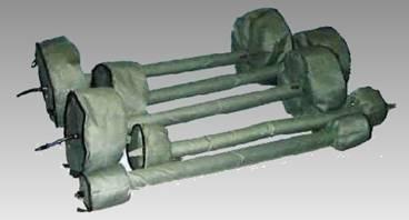 Жаропрочная надувная система  продувки труб